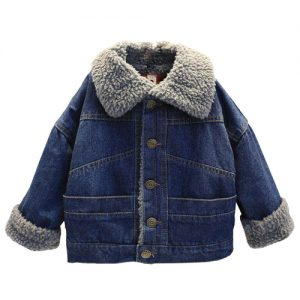 Kids Fleece Lined Denim Jacket
