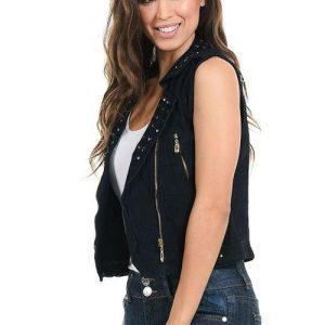 M.Michel Women's Denim Vest – Style 428A