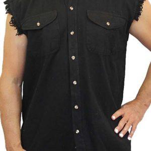 Men's Sleeveless Denim Shirt Ball Breaker Garage