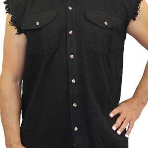 Men's Sleeveless Denim Shirt 2nd Amendment My Gun