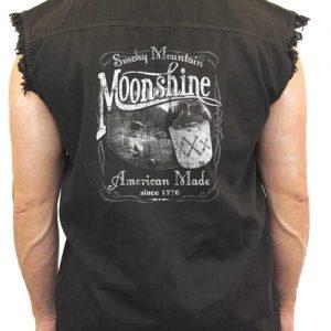 "Sleeveless Denim Shirt ""Smoky Mountain Moonshine"""